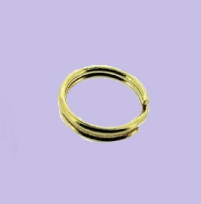9ct Yellow gold Split Rings 5mm - 8mm ideal for fitting charm links