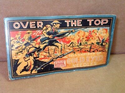 "Vintage Antique WWI ""Over the Top"" Army Infantry Soldiers Doughboy Needles Book"