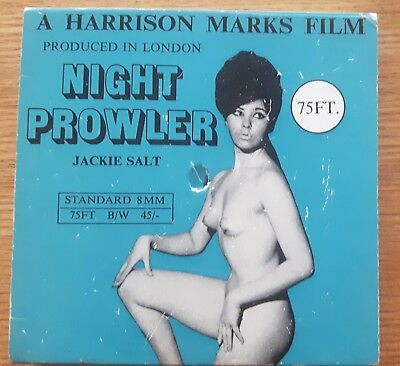 Vintage Glamour  B/w 8Mm 75Ft Harrison Marks Film Night Prowler Jackie Salt