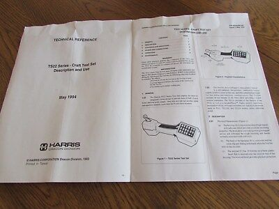 Harris Dracon TS-22 Craft Test Set Manual Dial Pulse or Touch Tone Testing 1994