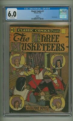 Classic Comics #1 HRN 28 (CGC 6.0) O/W pages; Three Musketeers; 1946 (c#18969)