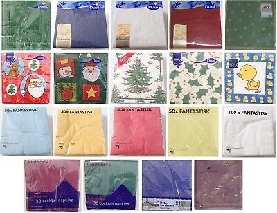 Napkins Dunilin Spode Xmas Tree Santa Ducks Ikea Blue Green Wine Red Choose