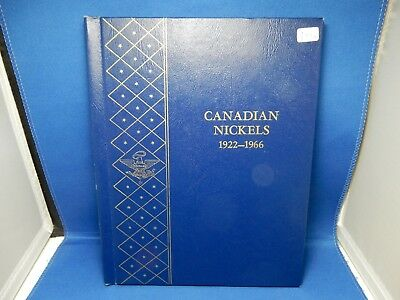 1922-1966 Canada Nickel Coin Book - Near Complete Missing 2 Coins of 53