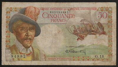 FRENCH EQUATORIAL AFRICA (P23) 50 Francs ND(1947) F+