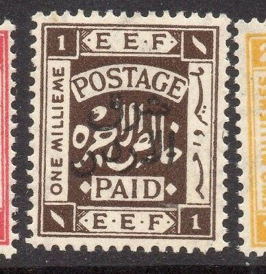 Transjordan 1925 Palestine Early Issue Fine Mint Hinged 1p. Optd 234762