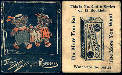 ©1922 Cracker Jack Popcorn Confection Advertising Baby Bears Toy Prize Booklet