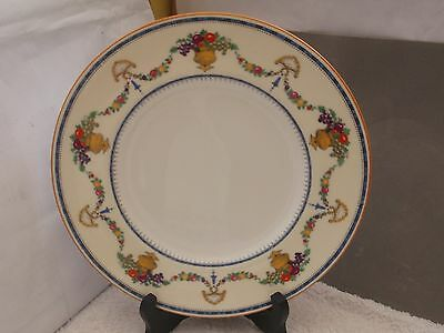 Cauldon China Salad / Small Dinner Plate With A Floral Pattern Red Is Enamelled