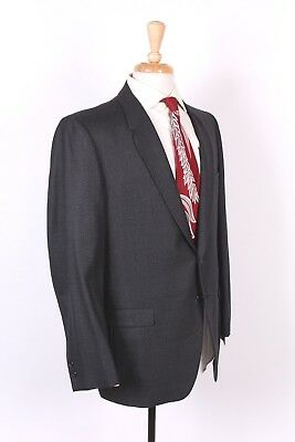 Vtg 60S Gray Wool Sharkskin Slim Skinny Two Button Suit Usa Mens Size 42