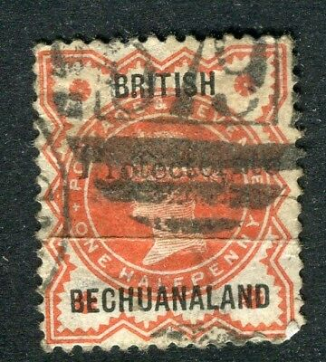 BECHUANALAND; 1890 Scarce QV Protectorate Optd. on 1/2d. used value