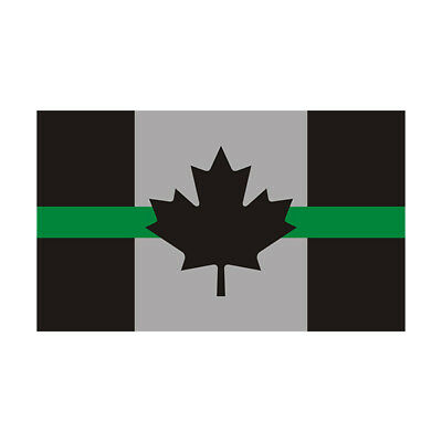 Thin Green Line Canada Subdued Flag Decal Canadian Park Ranger Gloss Sticker HGV