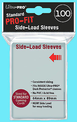 100 ULTRA PRO FIT Standard Size SIDE LOAD Card INNER SLEEVE Double 64x89 Perfect