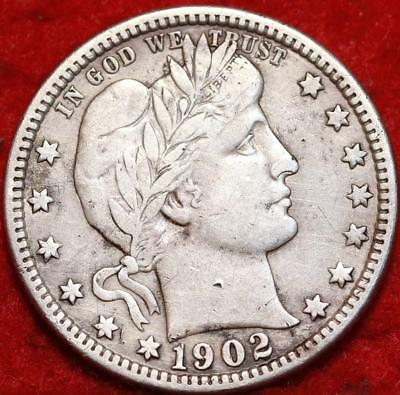 1902 Philadelphia Mint Silver Barber Quarter