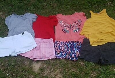 Lot of 4 ladies outfits spring summer Ana,Maurice nice sz 14 shorts, lg xl tops