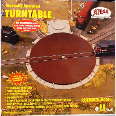 Atlas – HO/00 Scale – #305 Manually Operated 9″ Turntable
