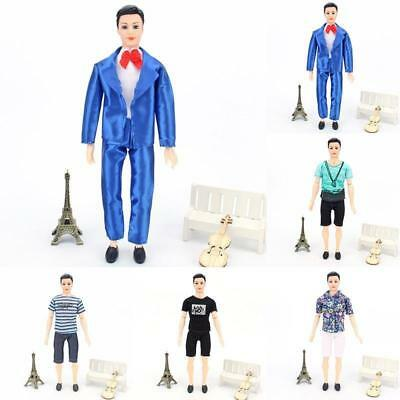 Fashion T shirt + Pants Clothes Outfit Suit for Barbie Boyfriend Ken Doll Gifts