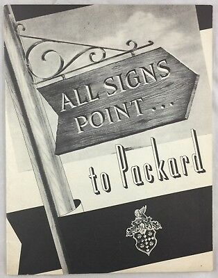 Orig 1938 Promo Book All Signs Point To Packard Auto Car Co Trade Catalog