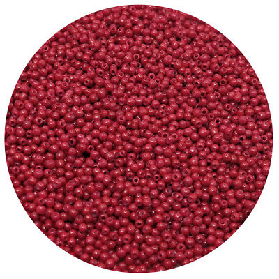 Lot of 2500pcs DIY 11/0 Rocaille 1.8mm Small Round Glass Seed Beads Wine red