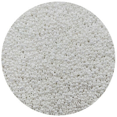 Lot of 2500pcs DIY 11/0 Rocaille 1.8mm Small Round Glass Seed Beads Milk white