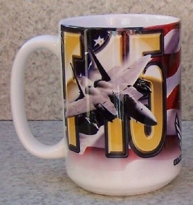 Coffee Mug Military Aircraft P-51D Mustang NEW 14 ounce cup with gift box