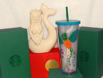 STARBUCKS - 2017 Summer - Quetzal Bird Floral 24 fl oz VENTI COLD CUP *BRAND NEW