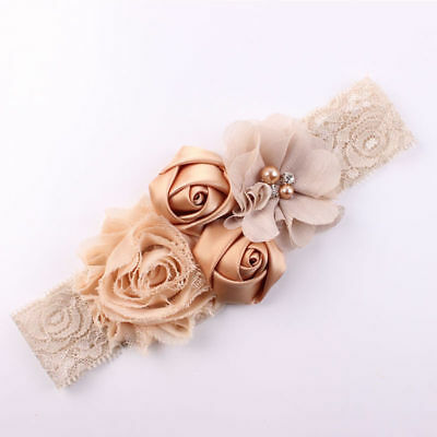 Lace Flowers Hairband Turban Headwear For Newborn Infant Hair Accessories Gifs