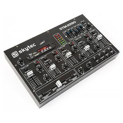 TABLE DE MIXAGE COMPACT Skytec STM-2290 - 6 CANAUX PISTES BLUETOOTH MIXER USB SD