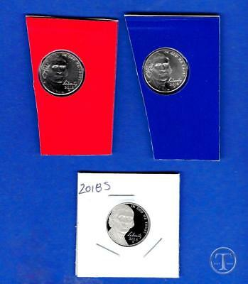 2018 P D and S BU AND Proof Jefferson Nickel set-PD Uncirculated from mint set-