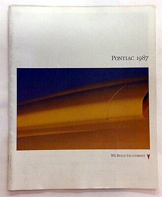 Car Auto Brochure 1987 Pontiac All Models Fiero Bonneville Firebird Etc 30 Pages