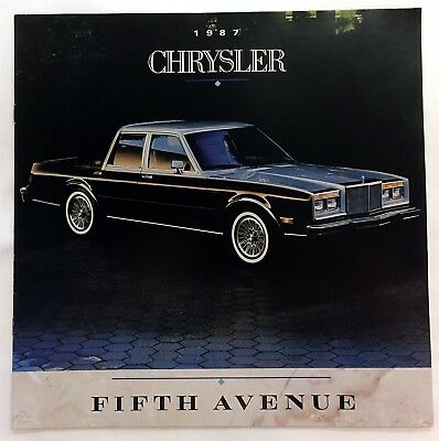Car Auto Brochure 1987 Chrysler Fifth Avenue 8 Pages