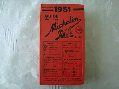 Guide MICHELIN ROUGE 1951 (Très bon Etat)