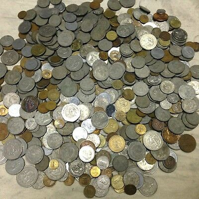 Huge 10 lbs Lot of Mexican Coins, Mexico modern & vintage coins, WYSIWYG, lot#46