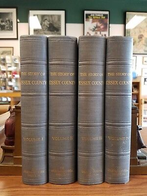 The Story of Essex County SIGNED by Claude M. Fuess 1935 Large Quartos Illust