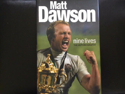 The Autobiography Signed By Matt Dawson, 2003 Rugby World Cup Hard Back Book