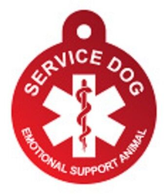 Customized Service Dog Tag Identification Engraved Pet ID Emotional Support