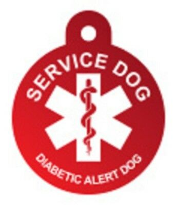 Customized Service Dog Tag Identification Engraved Pet ID Diabetic Support Dog
