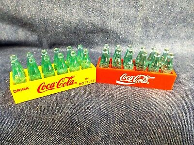COCA-COLA MAGNET - BOTTLES in CRATES - SET OF 2 - 1993 - NEVER USED