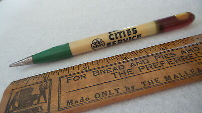 Vintage Advertising Mechanical Pencil CITIES SERVICE, Oil Top