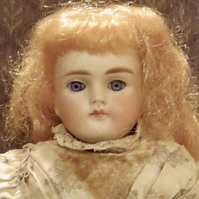 "Antique 15"" Closed Mouth German Bisque Perfect Fashion Doll 639 ABG"