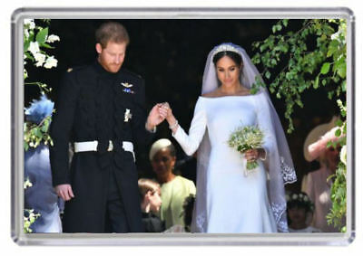 Prince Harry and Meghan Markle Royal Wedding Fridge magnet 03