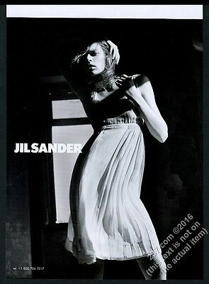 2004 Jil Sander dress woman fashion photo vintage print ad
