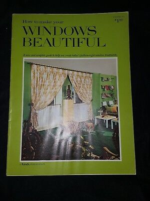 How to Make Your Windows Beautiful Kirsch 1969 Paperback USED Mid Century Modern