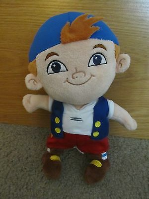 "Disney Store Jake And The Neverland Pirates 11"" Cubby Soft Plush Doll Toy *ln"