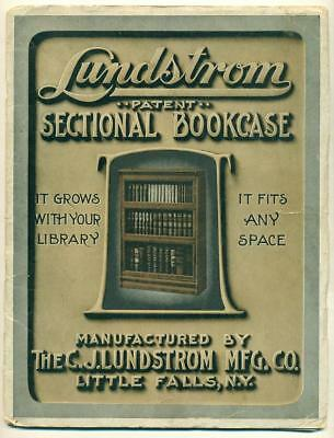 1908 LUNDSTROM MFG. CO. CATALOG, Little Falls NY, BOOK CASE & FILING CABINET