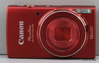 Canon PowerShot ELPH 150 IS 20.0 MP Digital Camera / Red