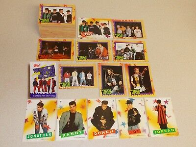 1989 NKOTB NEW KIDS ON THE BLOCK Trading Card & sticker Sets + WRAPPER     music