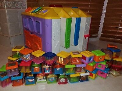 Fisher Price EUC Complete Incrediblock Activity Cube 40 Peek a Blocks Toy Lot
