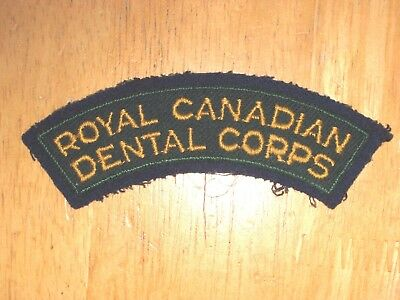 Canadian Shoulder Flash Royal Canadian Army Dental Corps nice