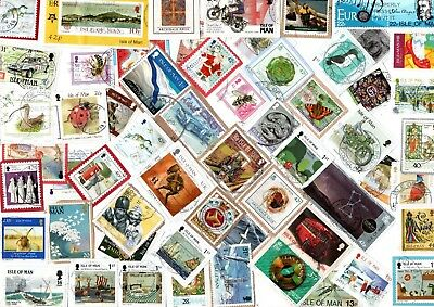 A Lovely Mix Of Mostly Recent Commemorative Stamps From The Isle Of Man