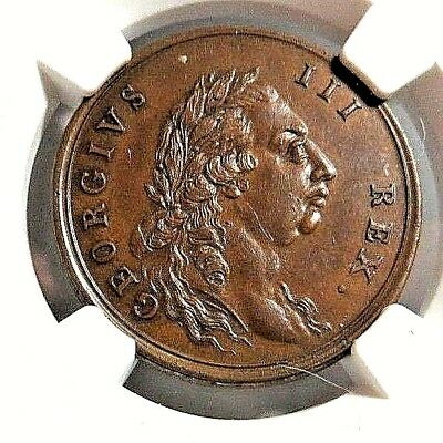 1789 - Middlesex - Nat'l Series - Conder Token - Dh - 932 - Ngc  Ms - 63 -  Nr