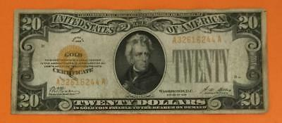 """1928 $20 """"GOLD Certificate"""" """"High in Demand"""" VG/FINE! Old US Paper Currency"""